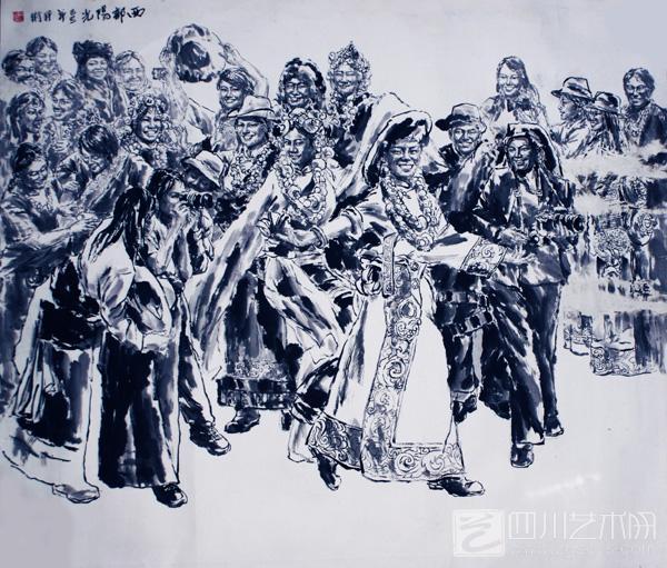黑白手绘人物粗线条