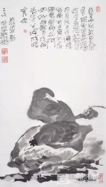画喜唐吴道子,宋代花鸟及宋元明清山水;青年时期喜欢清雅淡然的画