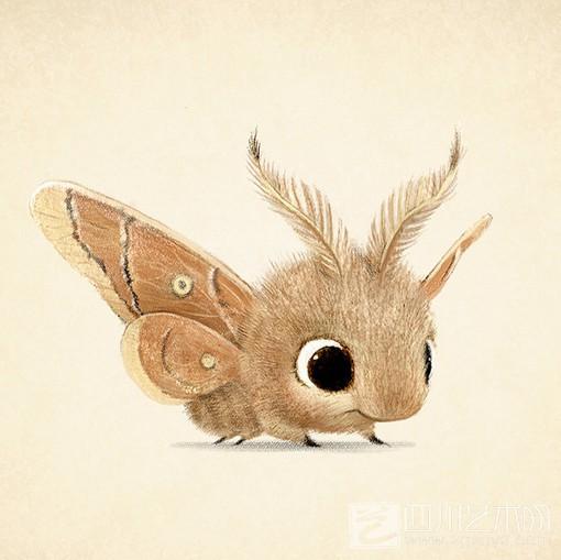 萌萌的小动物插画插图作品欣赏