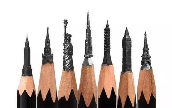 fidai 以木工的技巧来完成这些精巧的笔尖雕塑单纯利用笔刀在铅笔笔尖