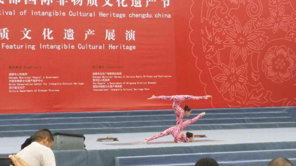 非遗节现场蒙古柔术表演2 12:35PM