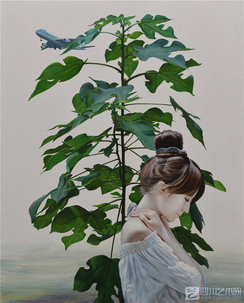 梧桐树的夏日 100x80cm 布面油画 2015