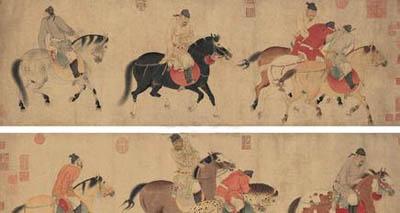 任仁发《五王醉归图》卖出3亿多 成年度最贵中国艺术品
