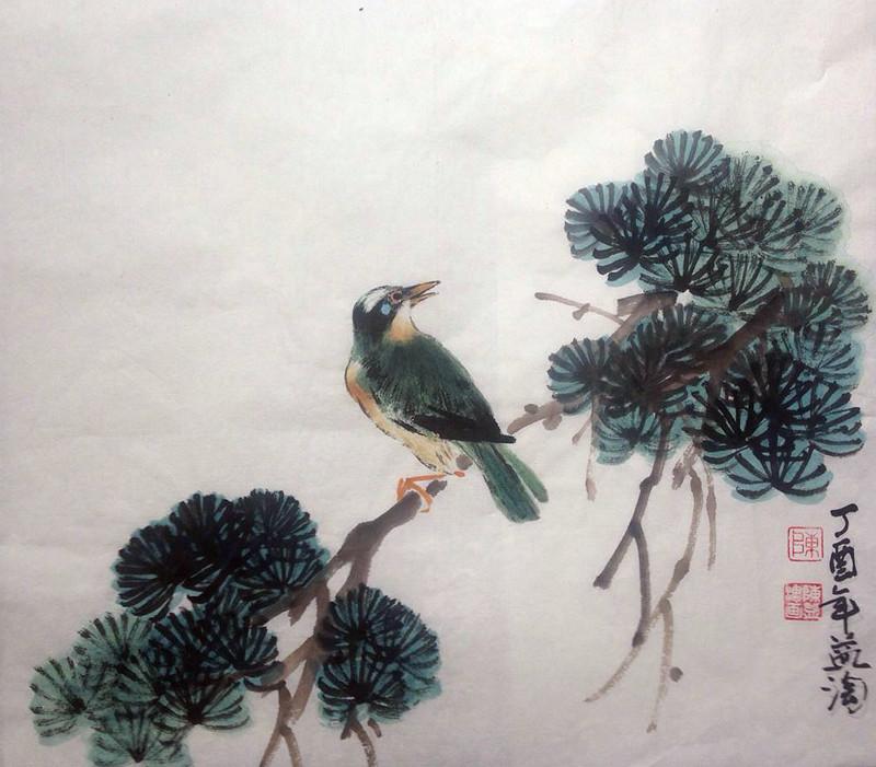 陈刚国画作品两件