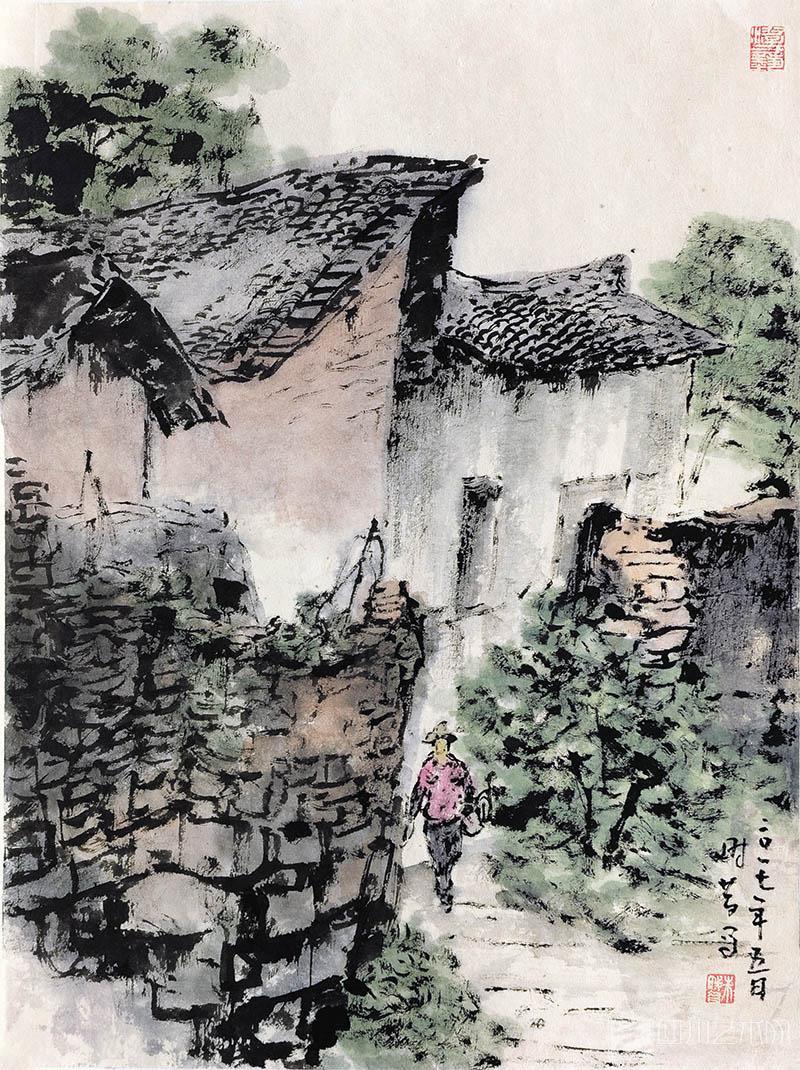 朱时昔    《自流井·写生》    48×35 cm    纸本水墨