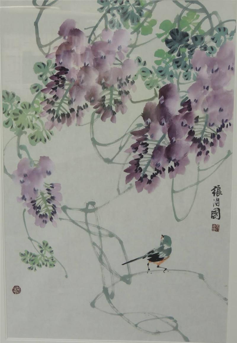 《紫藤小鸟》