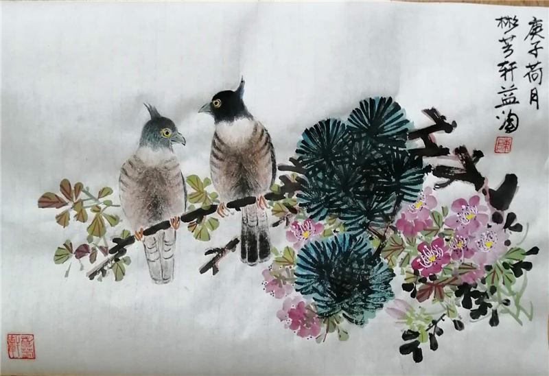 花鸟《富贵》
