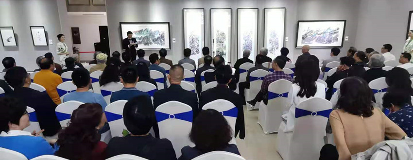 """""""烟云胜境——刘正兴水墨画展""""在四川福宝美术馆开幕"""